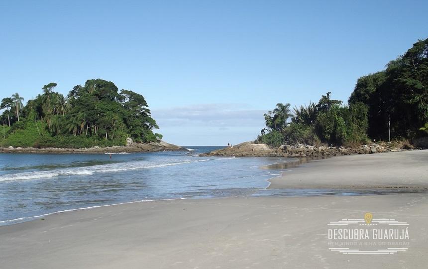 Praia do Tijucupava no Guarujá
