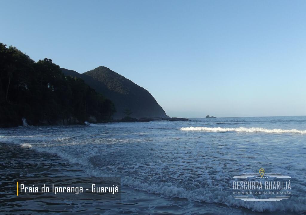 Vista da Praia de Iporanga Guarujá SP