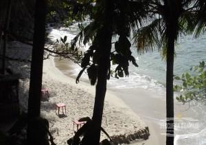 Vista da superior da Praia do Eden no Guaruja SP