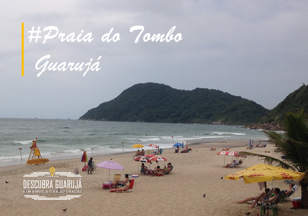 Praia do Tombo no Guarujá