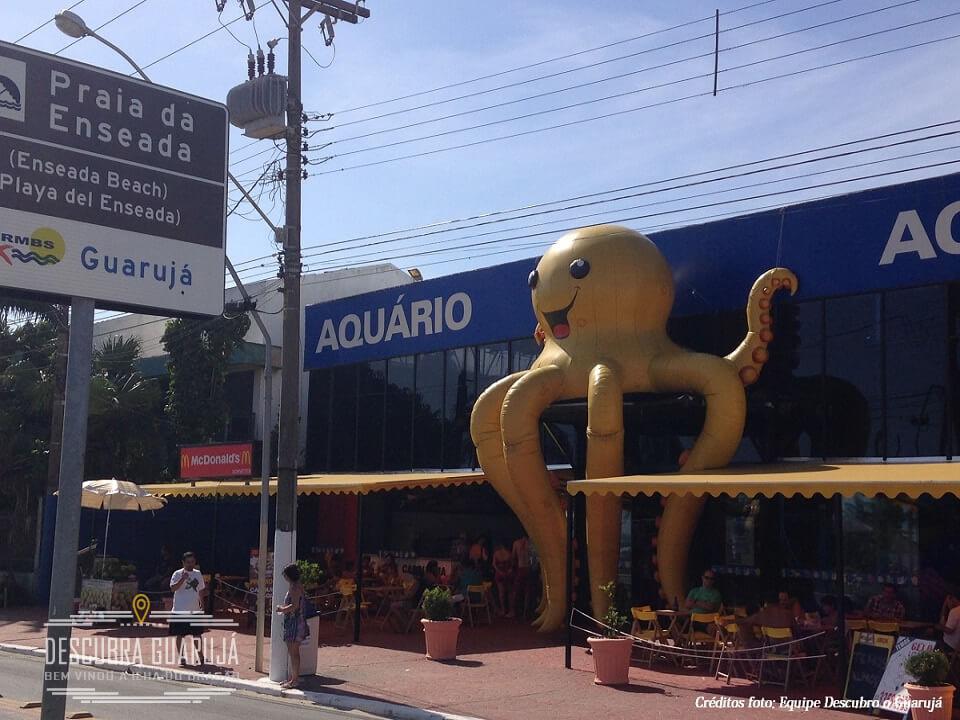 Fachada do Acqua Mundo Aquário do Guarujá SP
