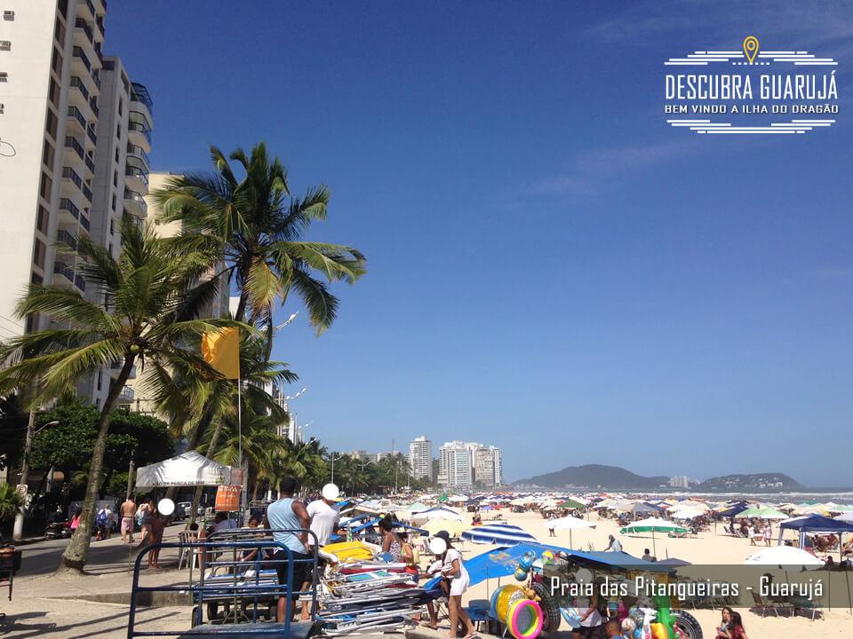 Lado direito da Praia de Pitangueiras Guarujá