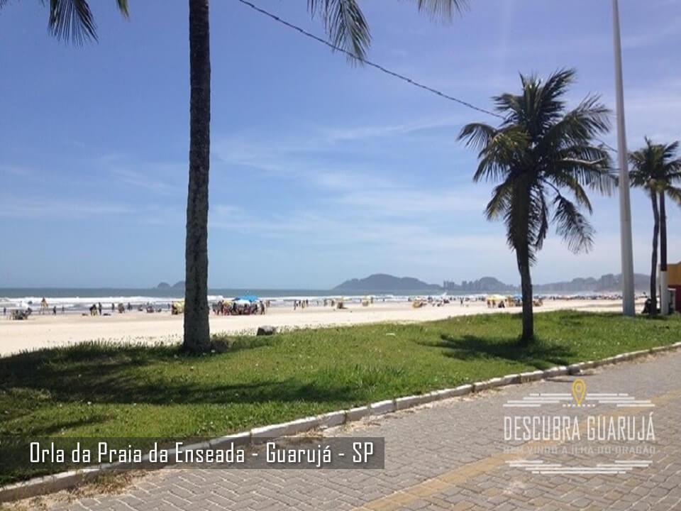Orla da Praia da Enseada em Guarujá  SP