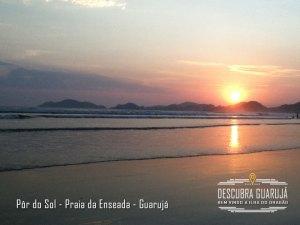 Por do Sol - Praia da Enseada - Guaruja