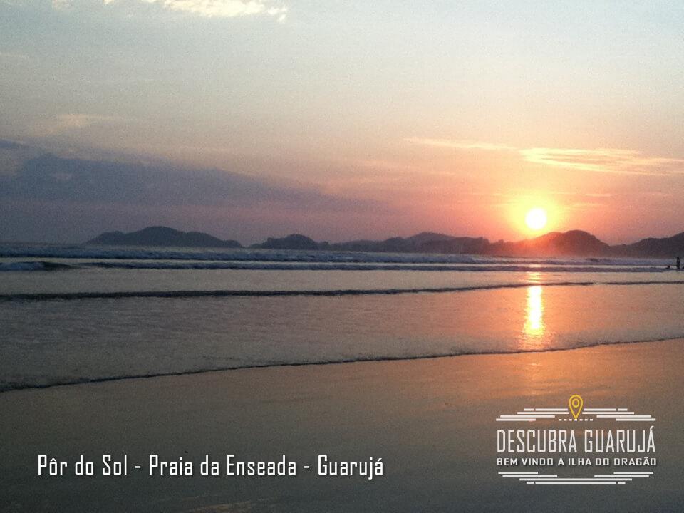 Por do Sol - Praia da Enseada - Guarujá
