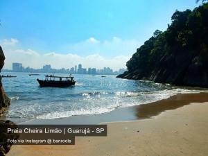 Praia Cheira Limão Guarujá - FT Via Instagram @banroots