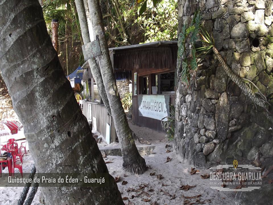 Quiosque Praia do Éden no Guarujá