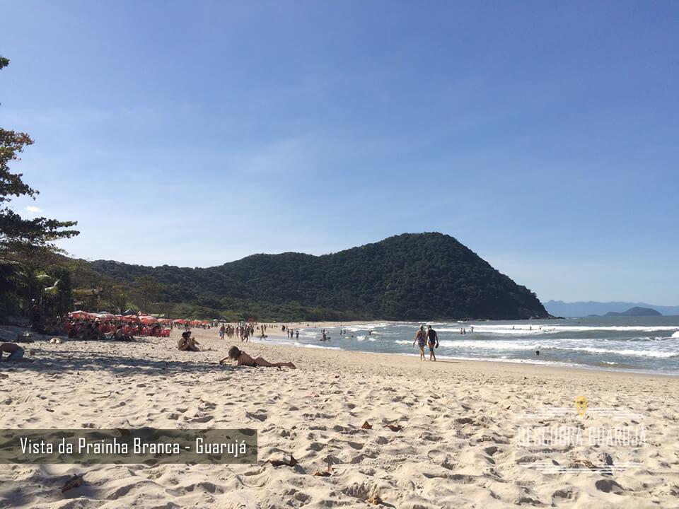vista da Praia Branca em Guarujá