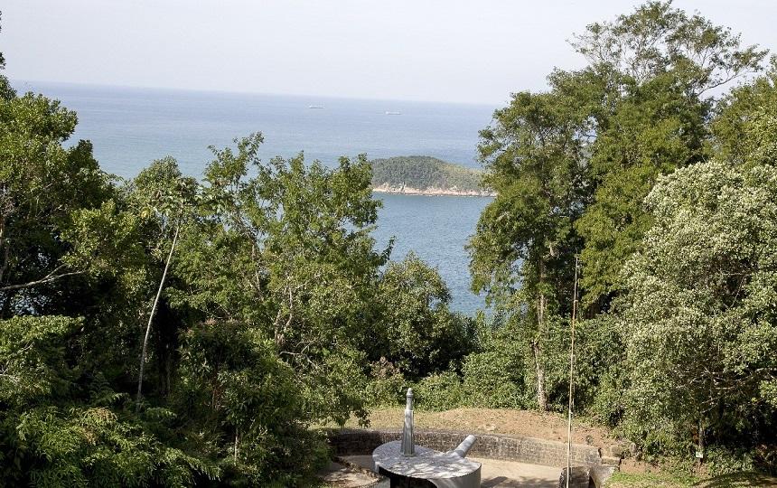 Vista do Alto no Forte dos Andradas - Guarujá