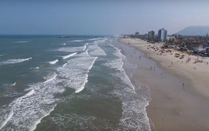 Praia de Mongagua - Litoral Sul de São Paulo