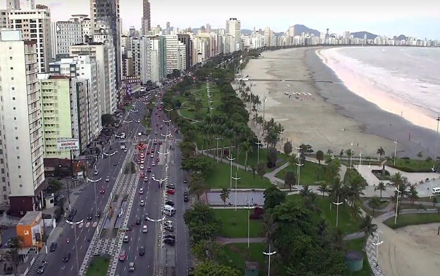 Praia de Santos - Baixada Santista - litoral Paulista