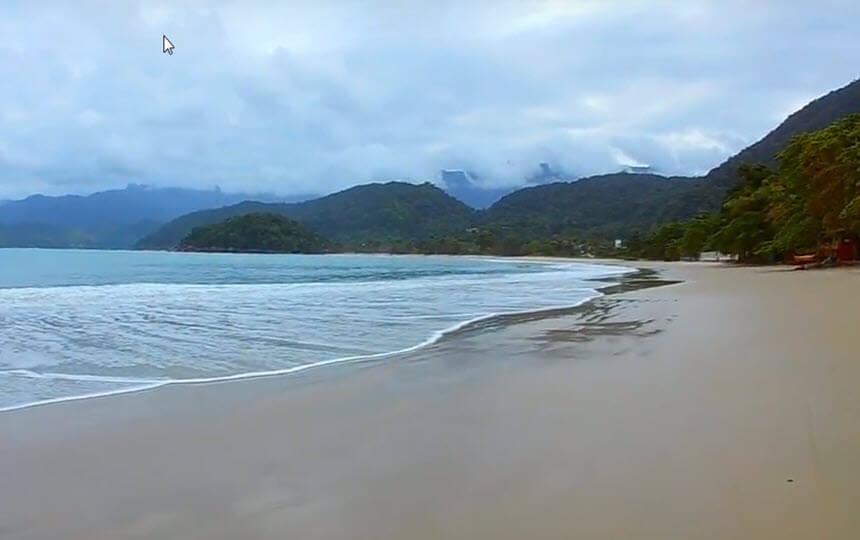 Praia do Lazaro em Ubatuba Litoral SP