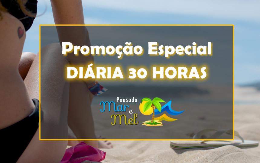 Banner Promo Diaria 30 Horas Pousada Mar e Mel Guarujá