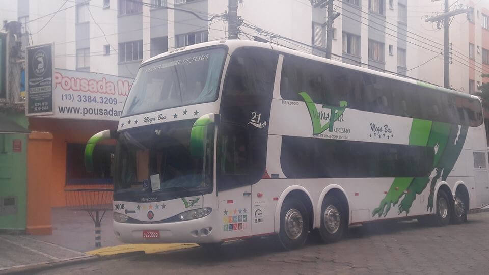 Ônibus Excursão Pousada Mar e Mel Guarujá