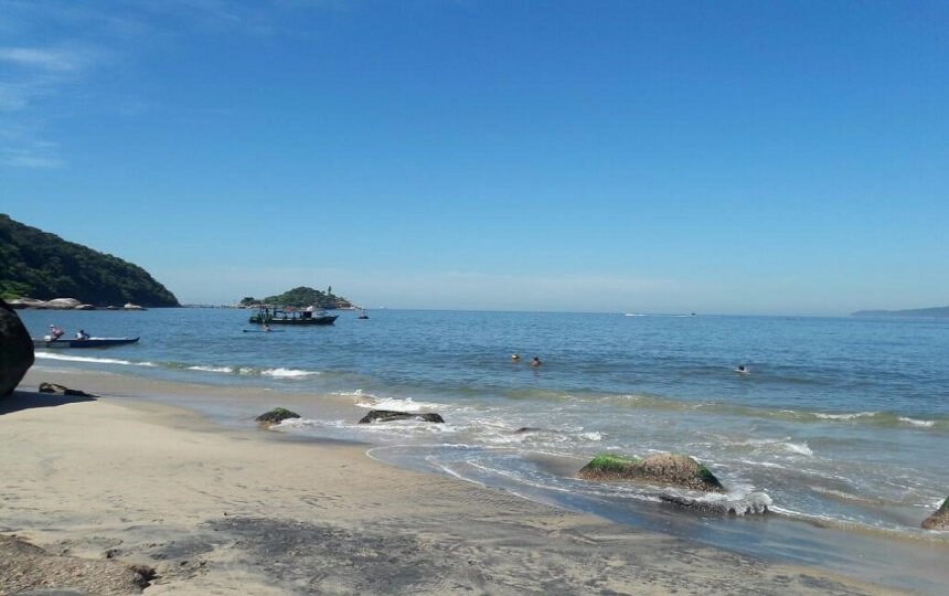 Praia do Sangava Guarujá