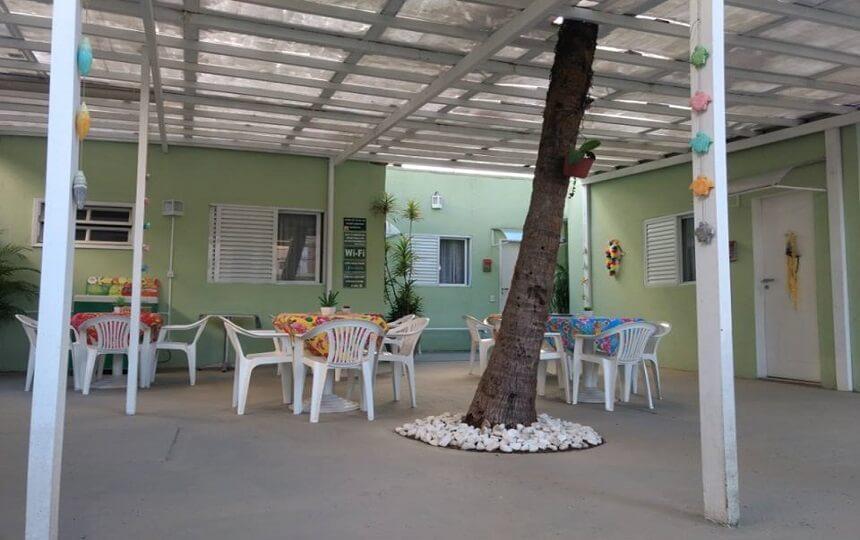 Area Externa da Pousada Aloha Guarujá