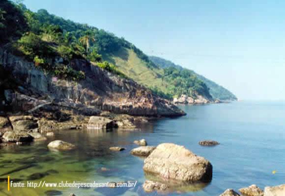 Mar da Ilha das Palmas Santos