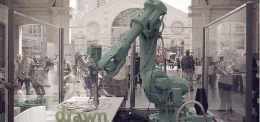 drawn - Un robot que imprime en 3D tus muebles y objetos de decoración