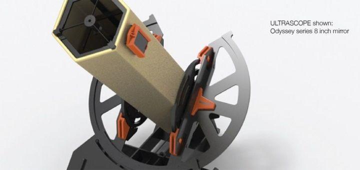 ultrascope1 - Imprime en 3D tu propio telescopio controlado con Arduino