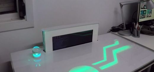 pidesk - Raspberry Pi controla esta mesa futurista