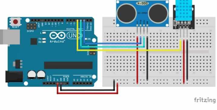 HC SR04 con DHT11 - Tutorial Arduino: Sensor ultrasonidos HC-SR04