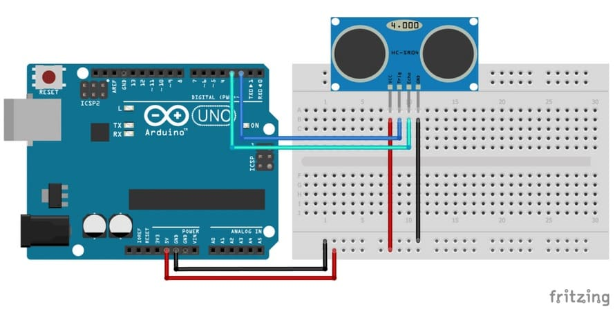 como conectar el sensor ultrasonico a arduino