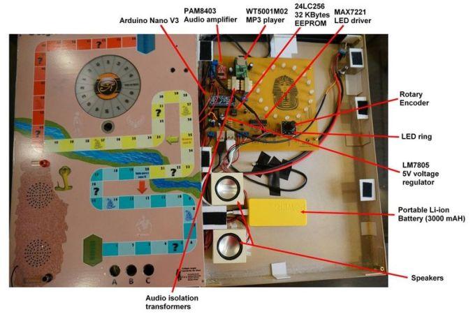 arduino juego 677x450 - El Secreto de la Pirámide, un juego de mesa realizado con Arduino