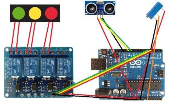 semaforoarduino2 - Construye un original sistema de aparcar el coche con Arduino