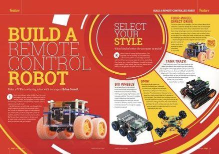 robotacontrolr - Este mes en MagPi nos enseñan a construir un robot a control remoto