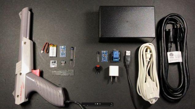 zapper arduino1 - Hackea un mando de Nintendo para controlar una lámpara