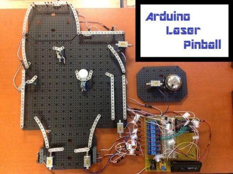 pinball arduino1 602x450 - Construye un juego de Pinball Láser con Arduino