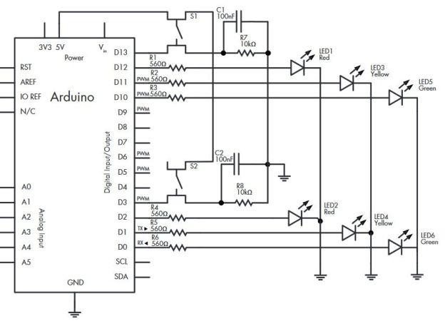 semaforo arduino