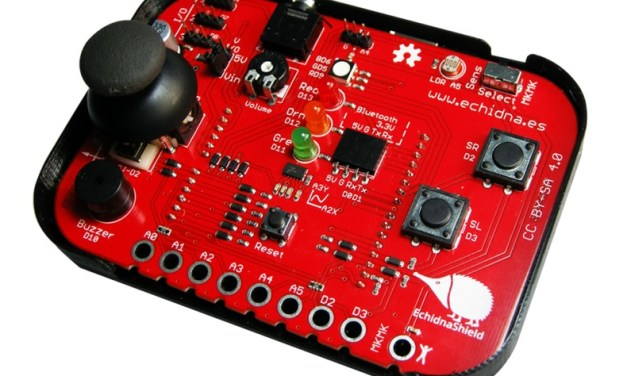 Echidna Shield, una placa para enseñanza compatible con Arduino