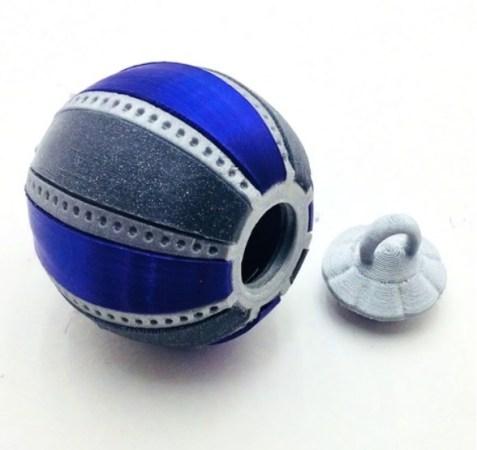 bola de navidad en 3D 477x450 - 11 proyectos para imprimir en 3D para decorar tu casa en Navidad