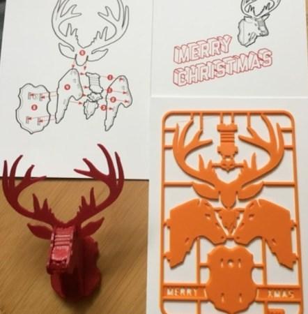 renos en 3D 442x450 - 11 proyectos para imprimir en 3D para decorar tu casa en Navidad