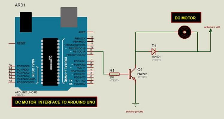 DC motor conectado Arduino Uno