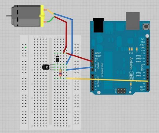 arduino DC motor esquema