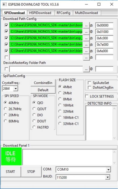 ESP8266 download tool