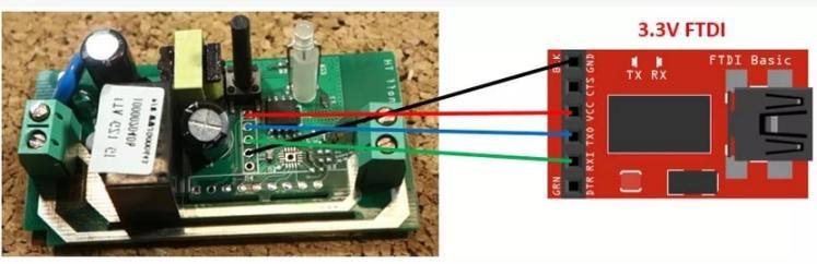 conexión de un módulo FTDI