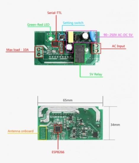 sonoff con módulo ESP8266 - Sonoff, Qué es y cómo configurarlo para el IOT