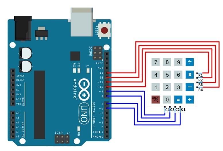 conexiones teclado con Arduino Uno - Electrogeek