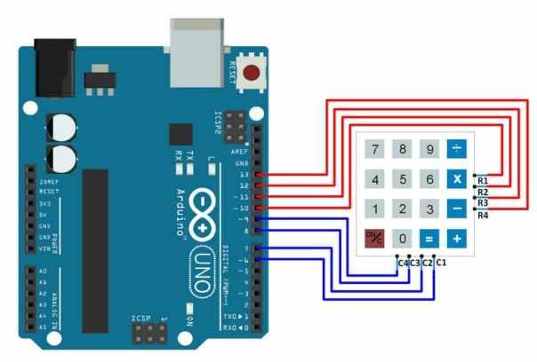 conexiones teclado con Arduino Uno