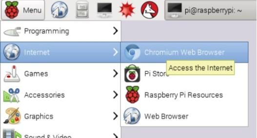 accede a internet con chromium de google