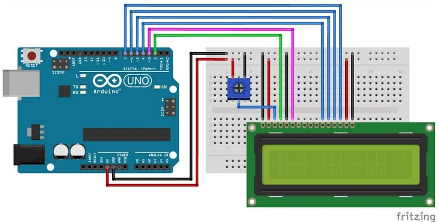 cableado pantalla LCD arduino uno - Electrogeek
