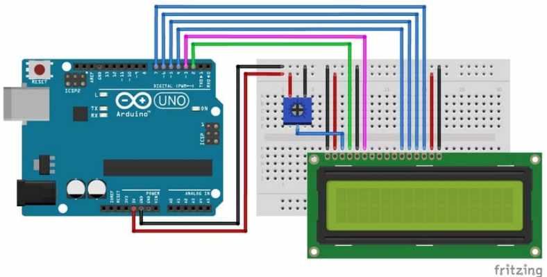 cableado pantalla LCD arduino uno