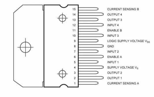 L298N Pinout - Controlando Motores DC con Arduino y el módulo L298N