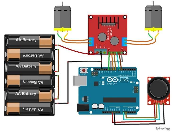 conexiones con Arduino y modulo L298N DC motor - Electrogeek