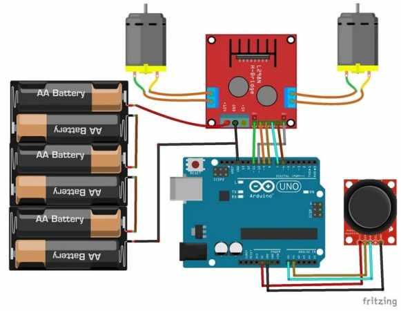 conexiones con Arduino y modulo L298N DC motor