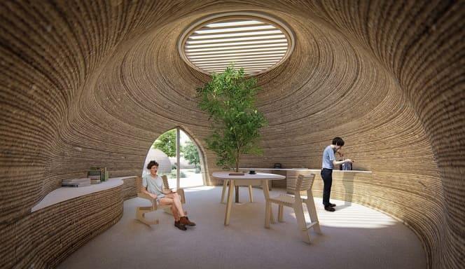 casa de archilla impresa en 3D