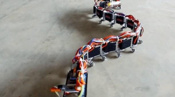 robot serpiente arduino